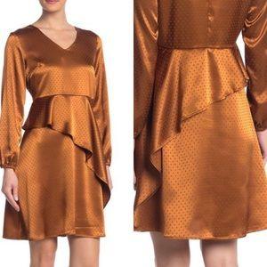 NEW Spense Gold V Neck polka dot dress